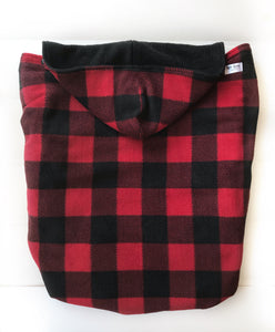 Fleece Lovey Cover- Red Buffalo Plaid