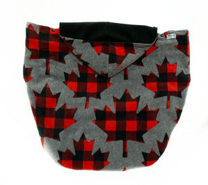 Fleece Lovey Cover- Grey Maple Leaf