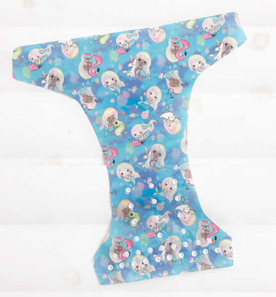 "GIRLY Little Lovey Fluff ""Your Way"" SWIM/CLOTH Diaper"