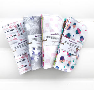 Lovey Cloths- Reusable Napkins/Washcloths/Cloth Wipes
