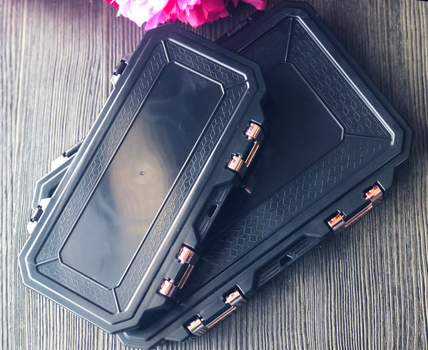 Glamour Lock Black Travel Box- Medium