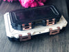 Glamour Lock Black and Marble Travel Box- Medium