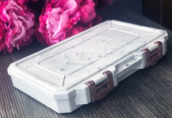 Glamour Lock Marble Travel Box- Medium