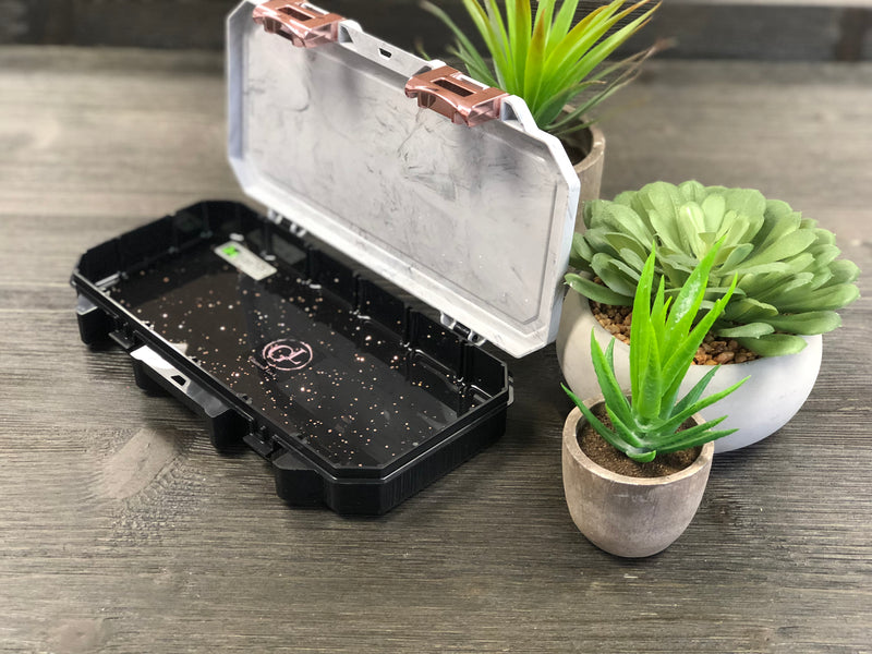Marble & Black Travel Box - Small