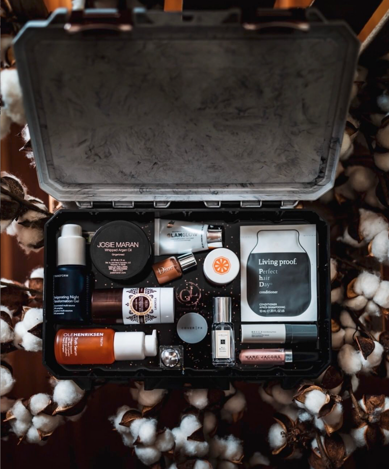 Marble & Black Travel Box - Medium