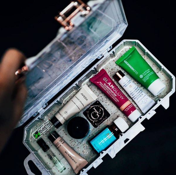 Glamour Lock Marble Travel Box-Small