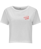 PEACH GANG CROPPED JERSEY T-SHIRT