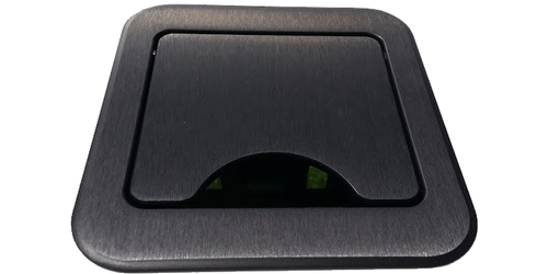 CNK212 Cable Nook Conference Table Box - USB Charging, HDMI and Ethernet - Black