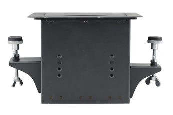 TBUS-1Axl-TBK4 Pre-Configured Table Well AV Box with Titlting Lid - Black