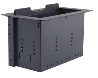 TBUS-10xl-TBK4 Custom Table Well - Auto Switching Table Box with Power - Retracting Lid