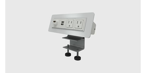 Axil-X Edge Mount Clamping AV Connection Box - HDMI, Charging USB, Power