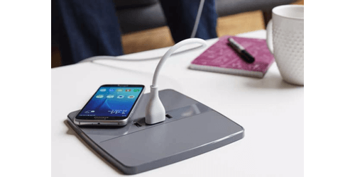 HQ2 Wireless Charging Table Pads - Qi Compatible - with Charging USB