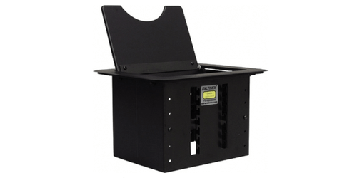 CNK210 Cable Nook Conference Room Table Box - Power, Video and Charging - Black