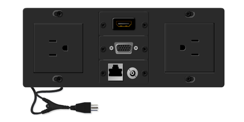 TBUS-6xl-TBK1 AV Table Box - 2 AC, HDMI, VGA, Audio, RJ45