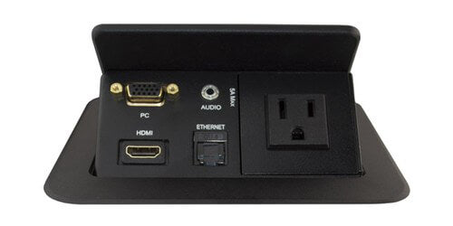 TBUS-201XL-US Pop Up Conference Table Box - Power, HDMI, VGA and Audio