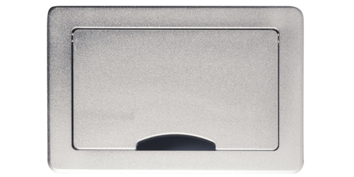 TBUS-10XL(BC) Configurable Table Box Base with Slide Away Lid - Silver