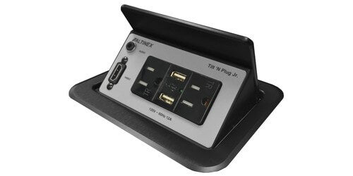 TNP358 Pop Up Table Box with Power, USB Charging, HDMI - Black