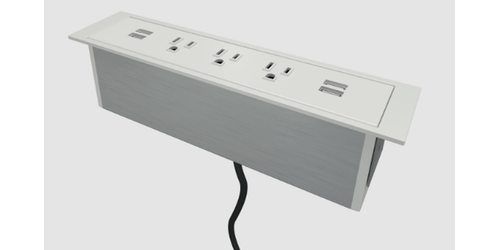 Dean-Surface Conference Room Power Charging Station - 3 Power & 4 USB