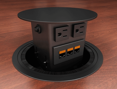 Concept-Round Round Conference Table Box - Dual Sided
