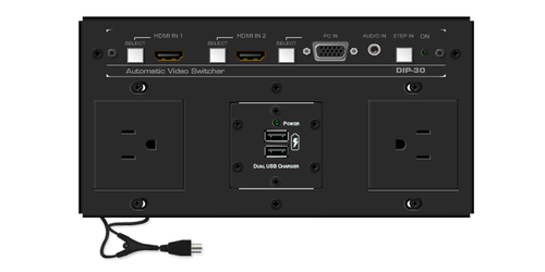 TBUS-10xl-TBK9 Custom Table Well - 4k Switching with HDBaseT Out & Receiver