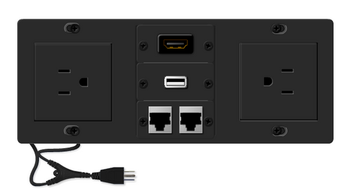 TBUS-6xl-TBK3 AV Table Box - Ethernet, USB, HDMI - Retracting Lid