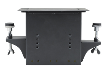 TBUS-3xl-TBK1 Table Well Conference Table Box, Tilting Lid, VGA and HDMI