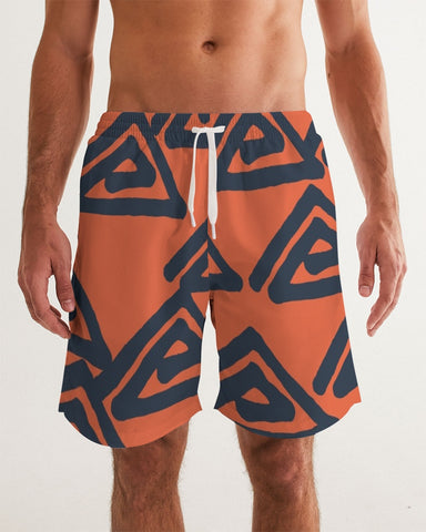 Triangle Labyrinth Masculine Swim Trunk