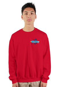 SMF Xaddy Crew Red Sweatshirt