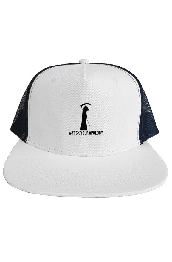 SMF White FYA trucker mesh hat