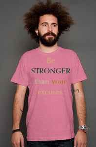 SMF BE STRONGER Raspberry Heather T-shirt