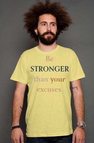 SMF BE STRONGER Gold Heather T-shirt