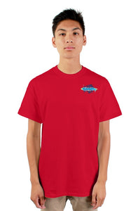 SMF Red Xaddy Embroidered Masculine Tee