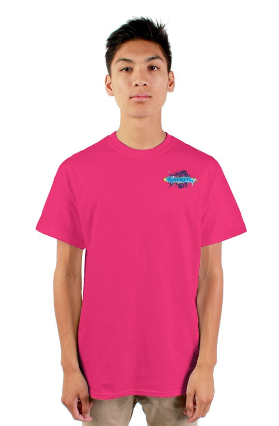 SMF Pink Xaddy Embroidered Masculine Tee