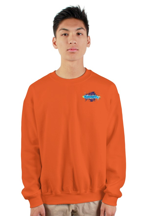 SMF Orange Xaddy Embroidered Heavy Sweatshirt
