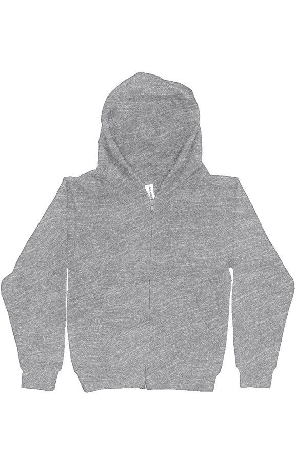 Youth Midweight Hooded Full-Zip Grey Sweatshirt