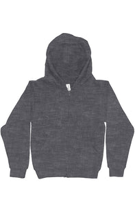 Youth Midweight Hooded Full-Zip Charcoal Sweatshirt