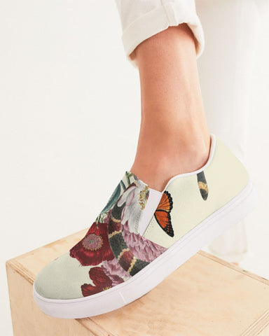 SMF Snake On Flowers Feminine Slip-On Shoes