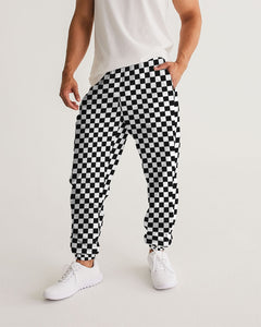 Checkerboard Masculine Track Pants