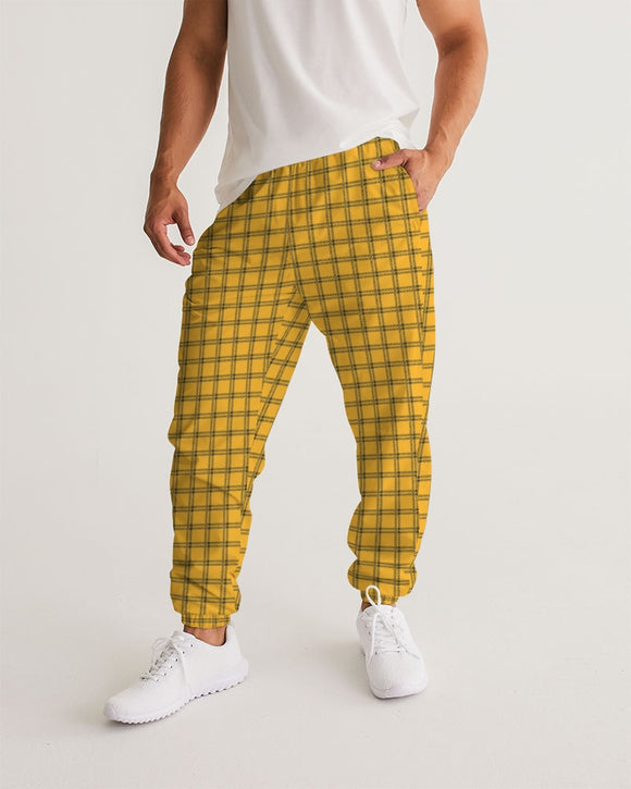 Yellow Plaid Masculine Track Pants