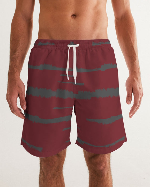 Love Red Masculine Swim Trunk