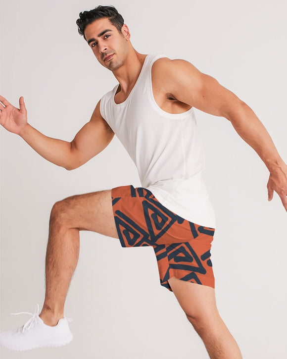 Triangle Labyrinth Masculine Jogger Shorts