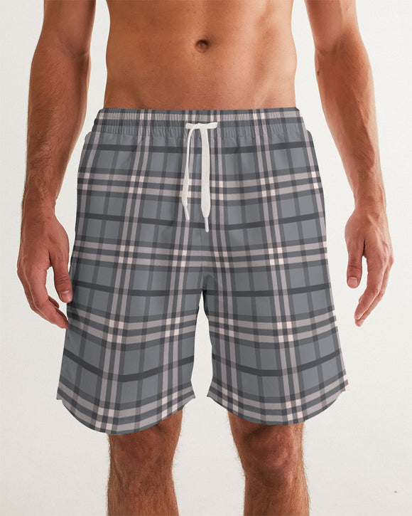 Classical Plaid Masculine Swim Trunk
