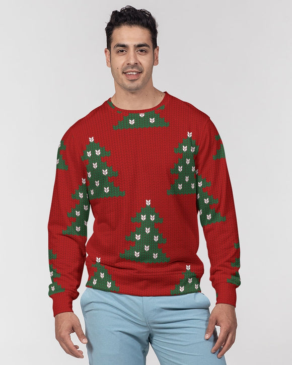 Merry Christmas Masculine Classic French Terry Crewneck Pullover