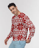 Christmas Flowers Masculine Classic French Terry Crewneck Pullover