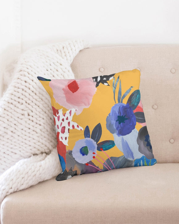SMF Acrylic Flowers Throw Pillow Case 18