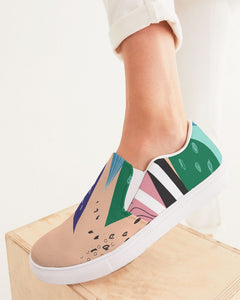 SMF Abstract Feminine Slip-On Canvas Shoe