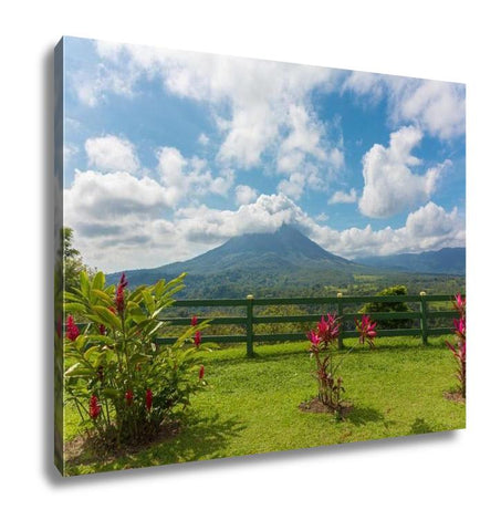 Gallery Wrapped Canvas, San Jose Volcano Arenal In Costrica