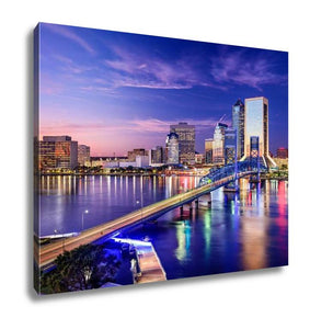 Gallery Wrapped Canvas, Jacksonville Floridusdowntown City Skyline