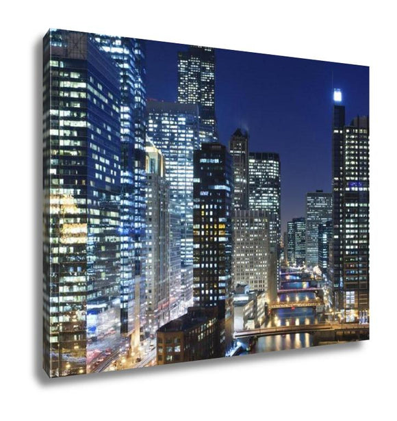 Gallery Wrapped Canvas, Chicago At Night