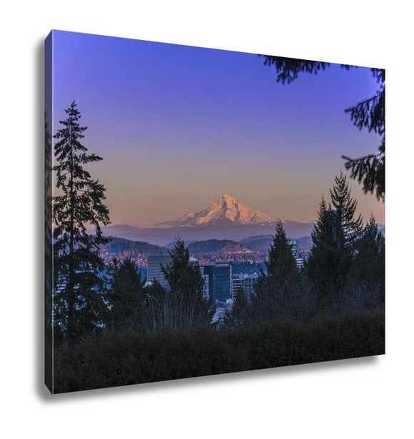 Gallery Wrapped Canvas, Mount Hood At Sunset